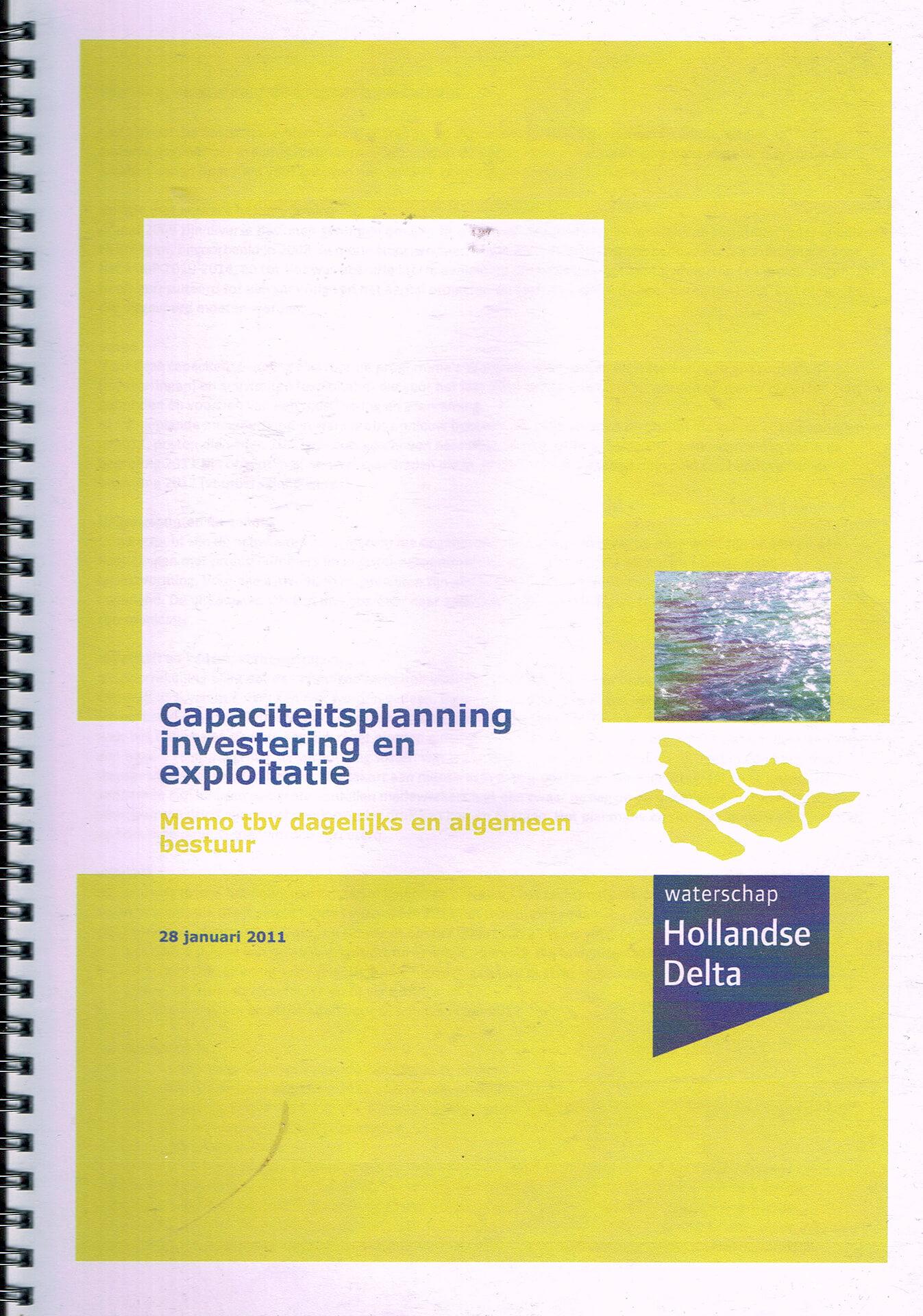 2012 Capaciteitsplanning Hollandse Delta