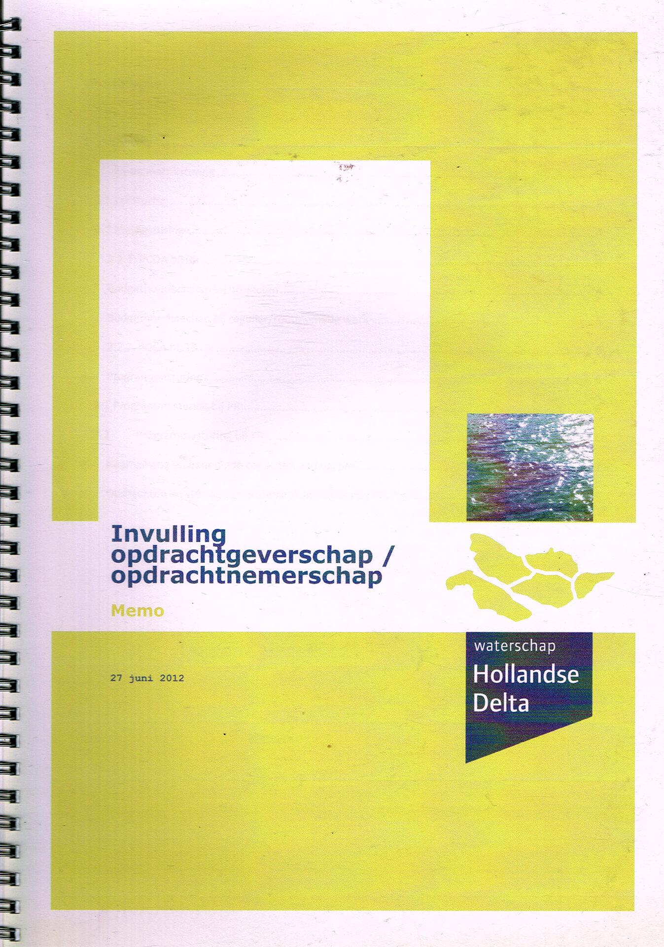 2012 Opdrachtgever- opdrachtnemerschap Hollandse Delta