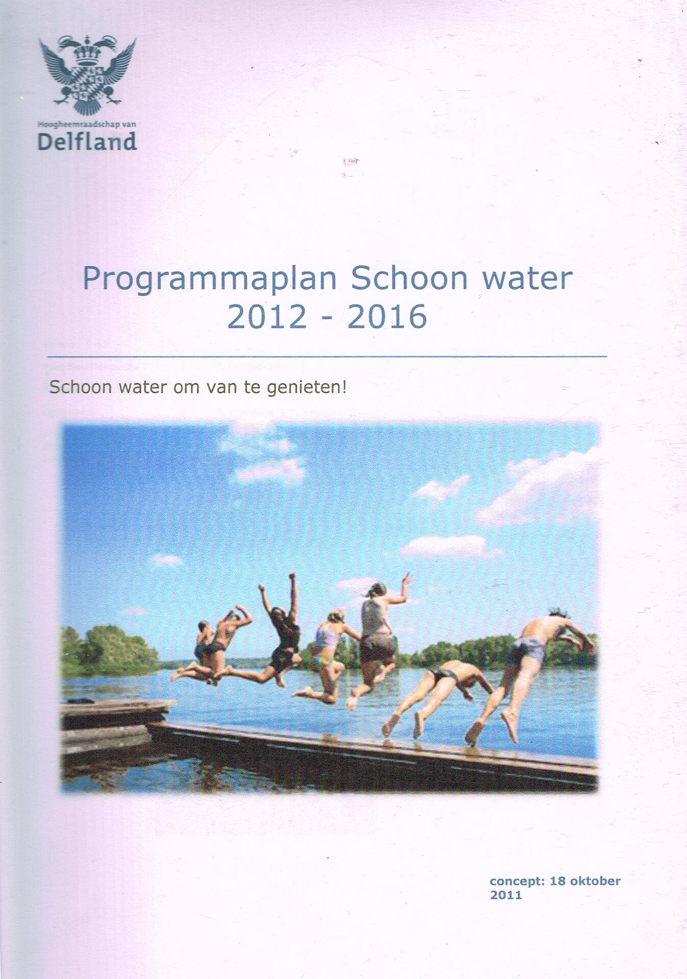 Programmaplan schoon water Delfland